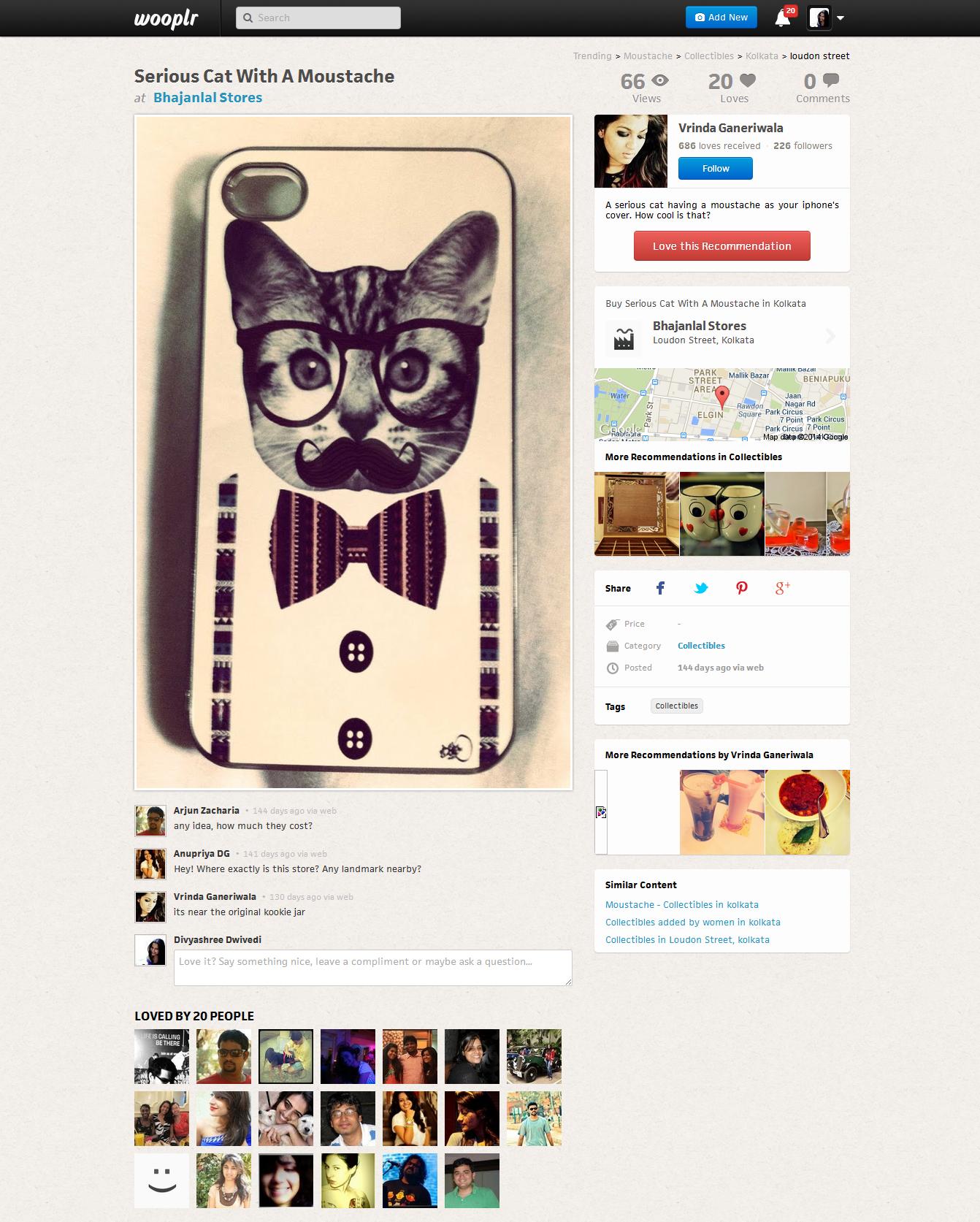 Wooplr social discovery platform