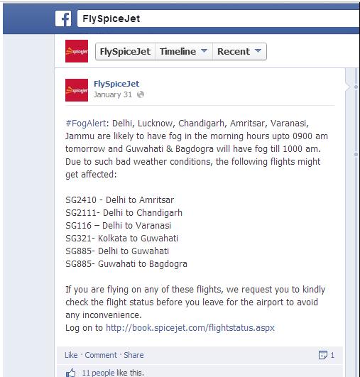 fly spice jet facebook page