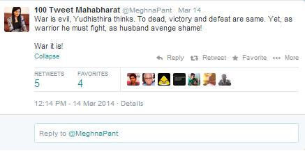 100 tweet Mahabharat