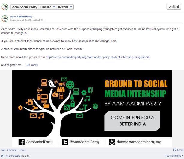 AAP Facebook post