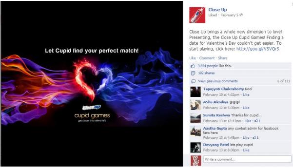 Close-up FB post