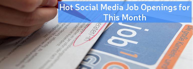 Social Media Job Openings
