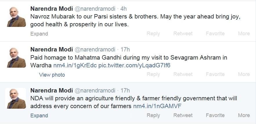 Modi Tweet