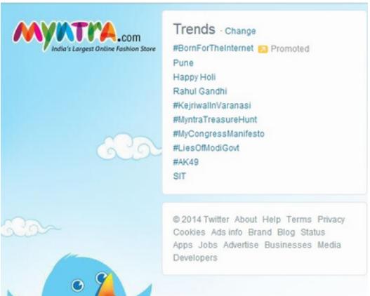 Myntra twitter trends