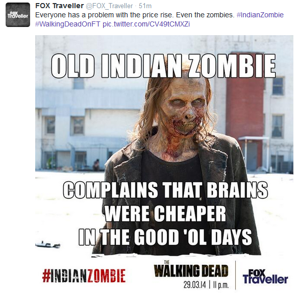 Zombies Fox Traveller Walking Dead