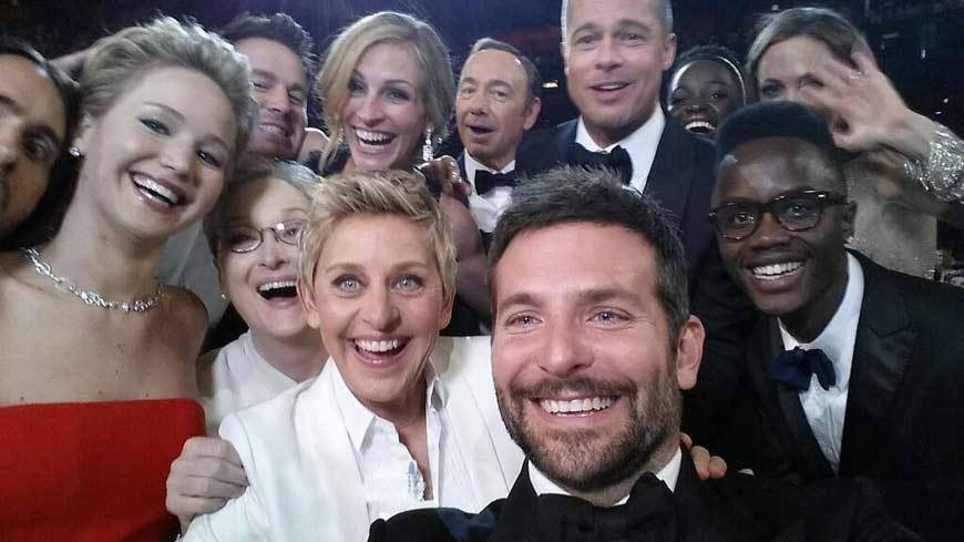 ellen degenres oscar selfie