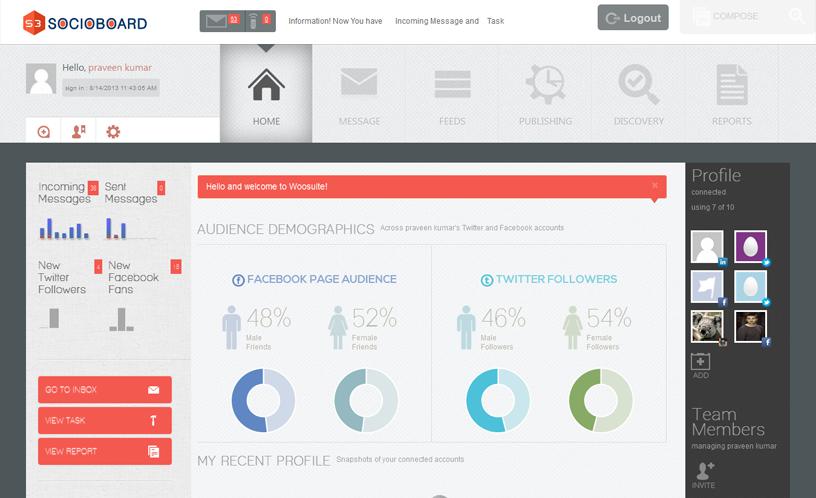 Socioboard home page