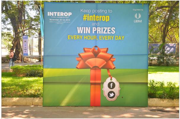interop mumbai 2013 twitter activity event