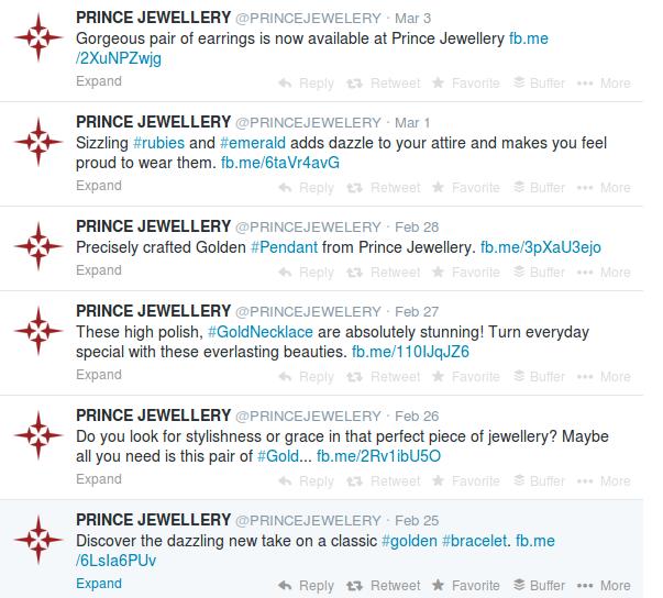 prince jewellery tweets