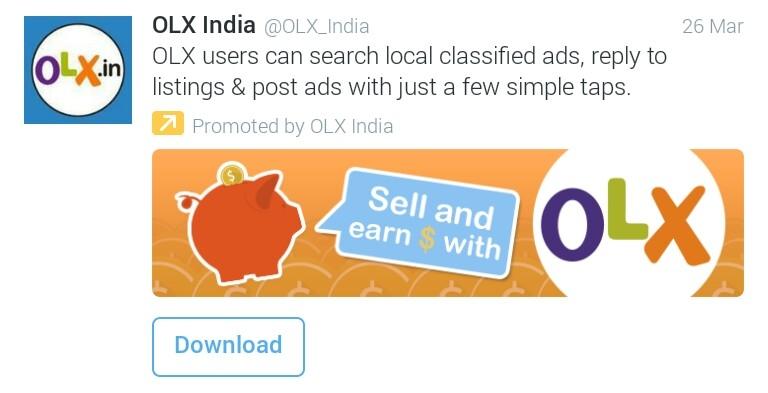 Twitter App Install Ad