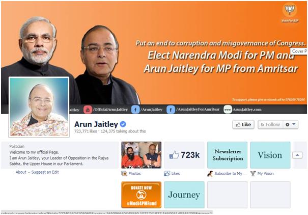 Arun Jaitley FB