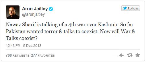Arun Jaitley Twitter