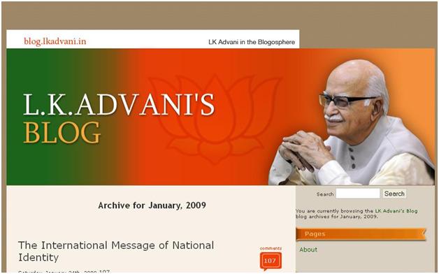 LK Advani Blog
