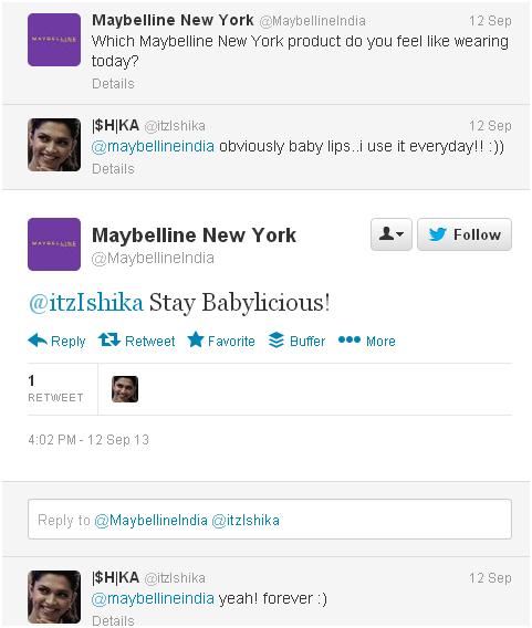 Maybelline - Twitter