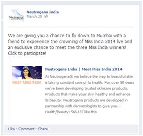Neutrogena Miss India