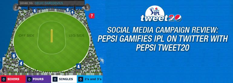 Pepsi Gamifies IPL on twitter