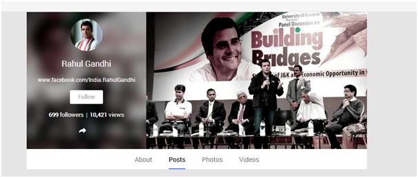 Rahul Gandhi Google Plus