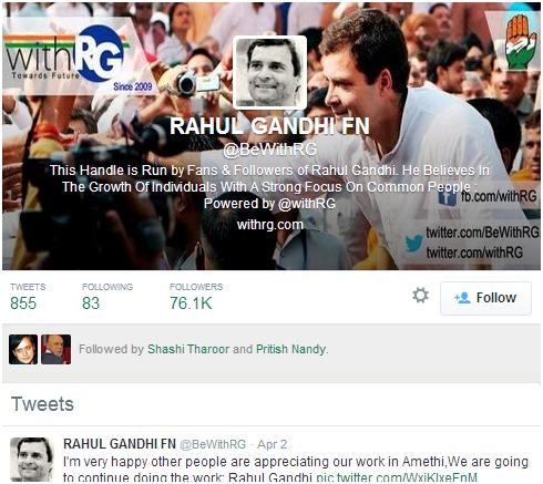 Rahul Gandhi Twitter Fan Page