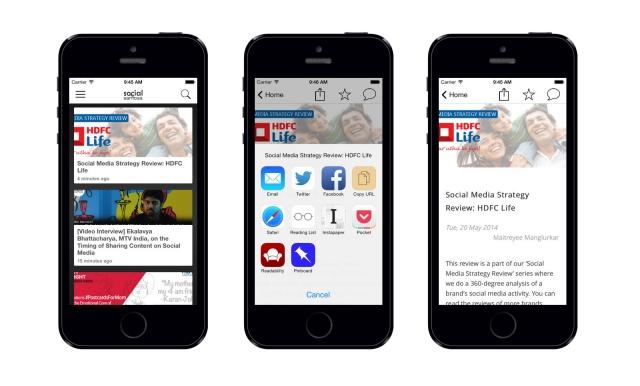 Social Samosa ios app