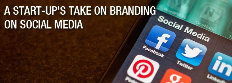 Startup take branding on social media