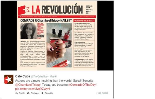 cafe cuba - tweet la revolution
