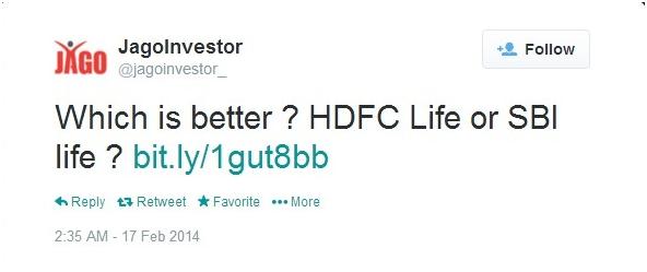 hdfc - jagoinvestor tweet
