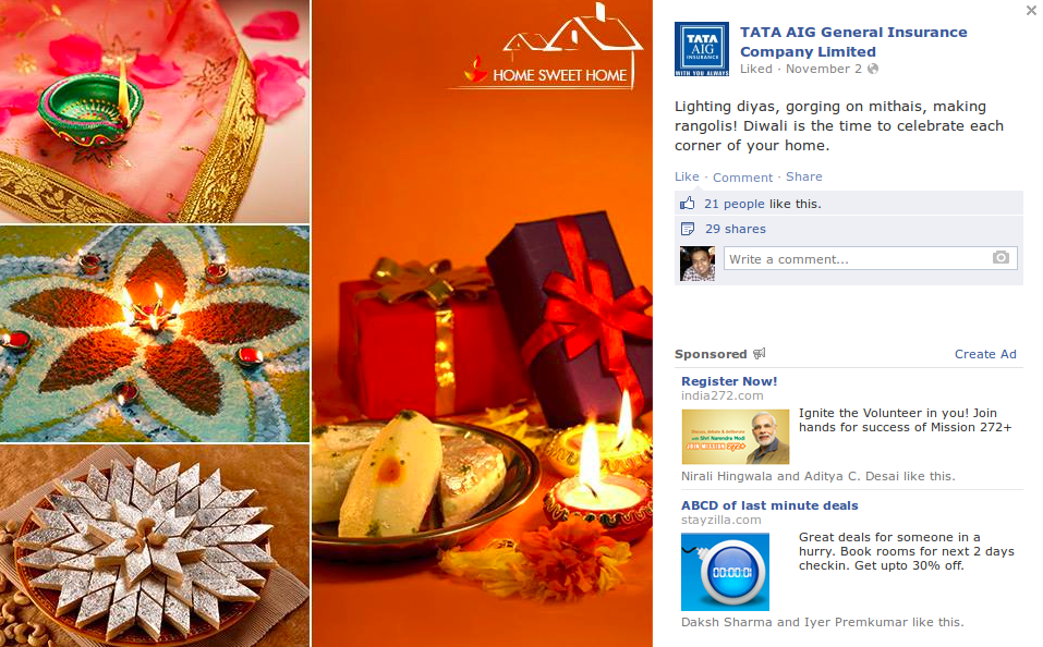 tata aig insurance fb post