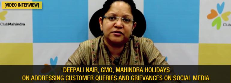 Deepali Naair addressing customer queries and grievances on social media