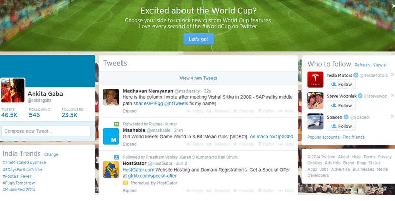 twitter world cup tweet post