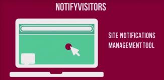 notify visitors