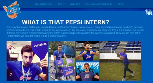 that pepsi intern