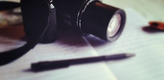 camera writing pen paper