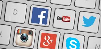 social media keyboard icons