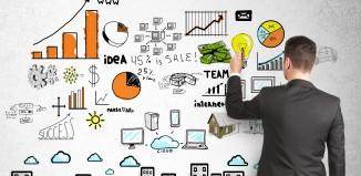 marketing businessman charts analysis
