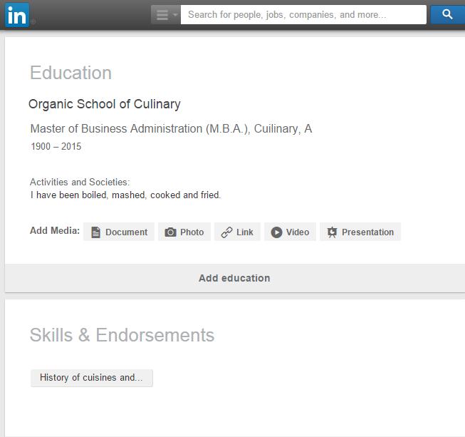 linkedin education