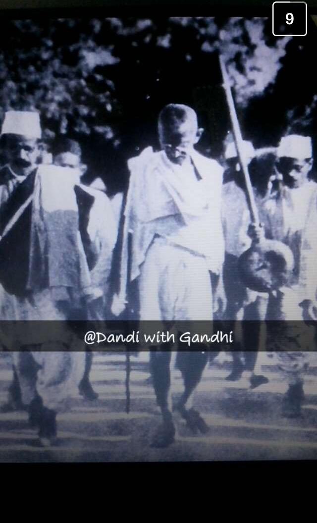 gandhi-snapchat