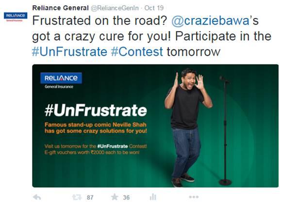 #UnFrustrate Tweet