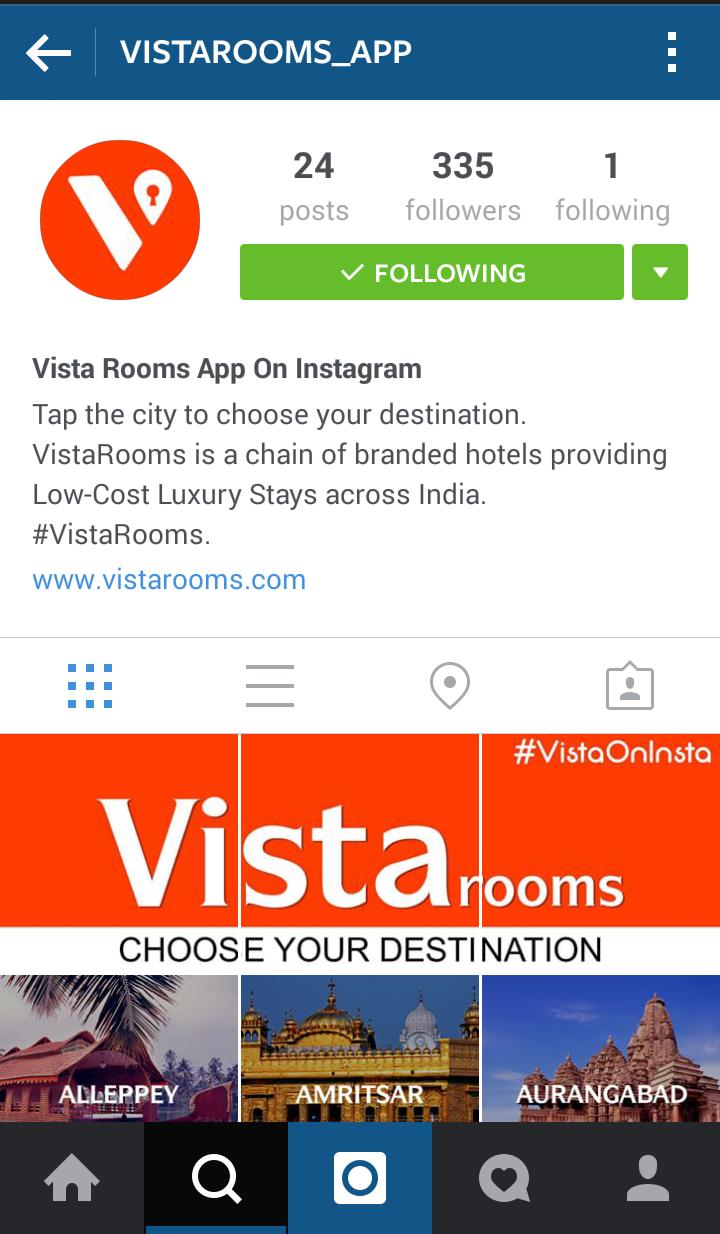 #VistaOnInsta: Cost effective Instagram marketing technique for start-ups