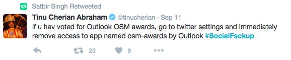 Outlook Social Media Awards