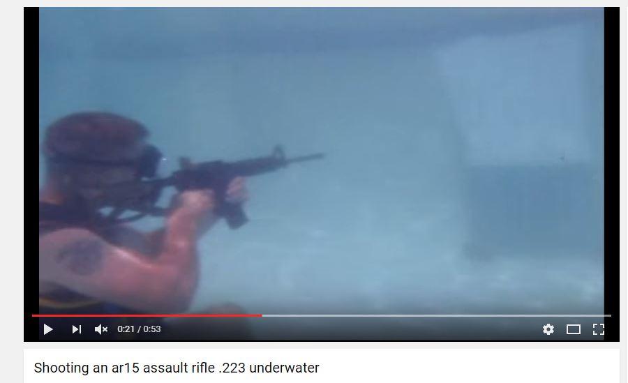 ar15 underwater