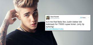 Justin Bieber lip-sync