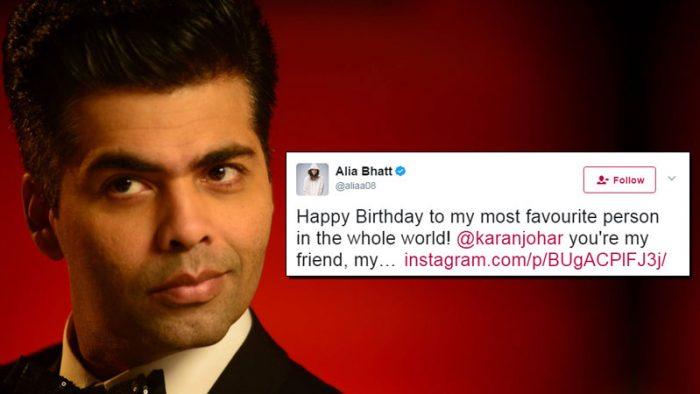 Karan Johar birthday tweets