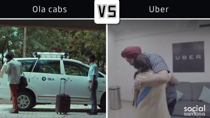Ola's Rear View v/s Uber's #DadsWhoMoveUs