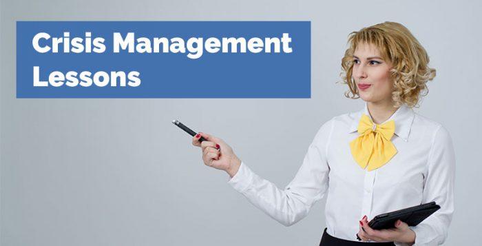 Crisis Management Lessons