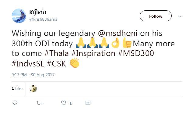 Mahendra Singh Dhoni 300