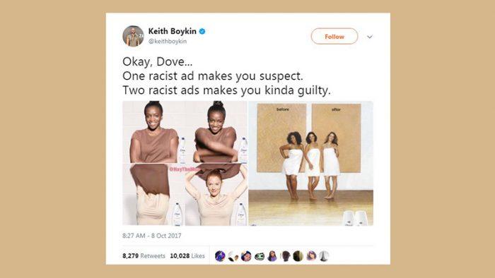 Dove racist ad