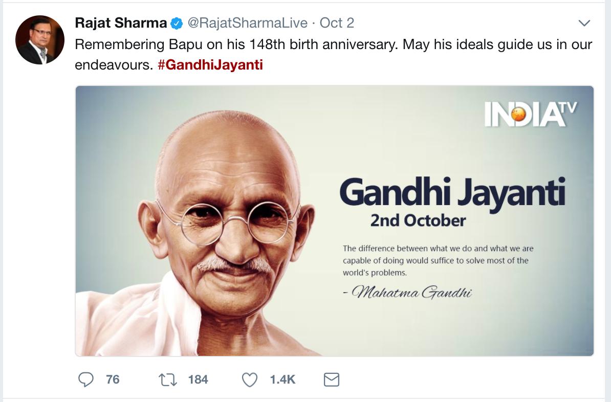 importance of gandhi jayanti