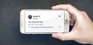 talking about a tweet