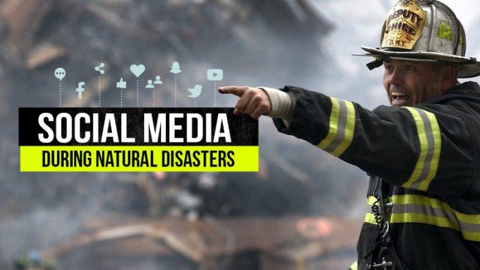 social media during a natural disaster