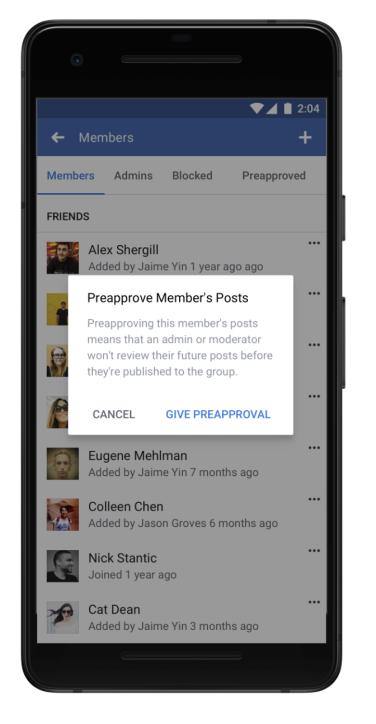 Facebook Groups update